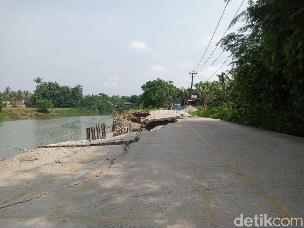 Jl Tanjung Burung Longsor, Warga Harap Pemkab Tangerang Perbaiki Segera