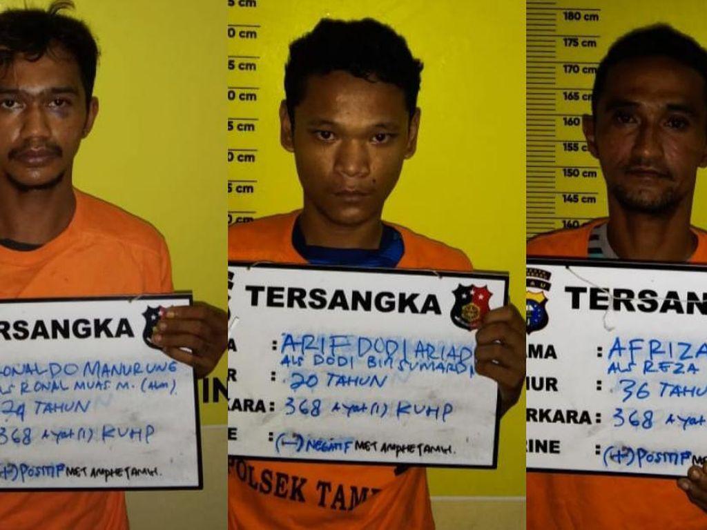 Palak Pedagang di Pekanbaru, 3 Preman Diamankan Polisi