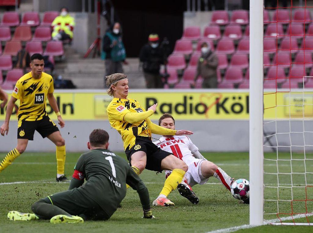 FC Koln Vs Dortmund 2-2, Haaland Penyelamat Die Borussen