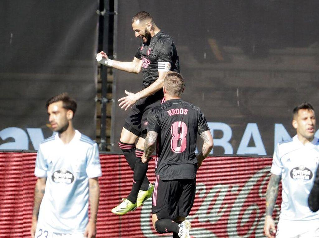Celta Vs Madrid: Benzema Cemerlang, El Real Menang 3-1