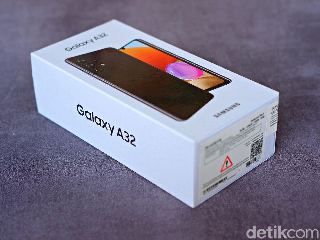 Galaxy A32 Awesome Black, Tampilan Premium Harga Tak Sampai Rp 4 Juta