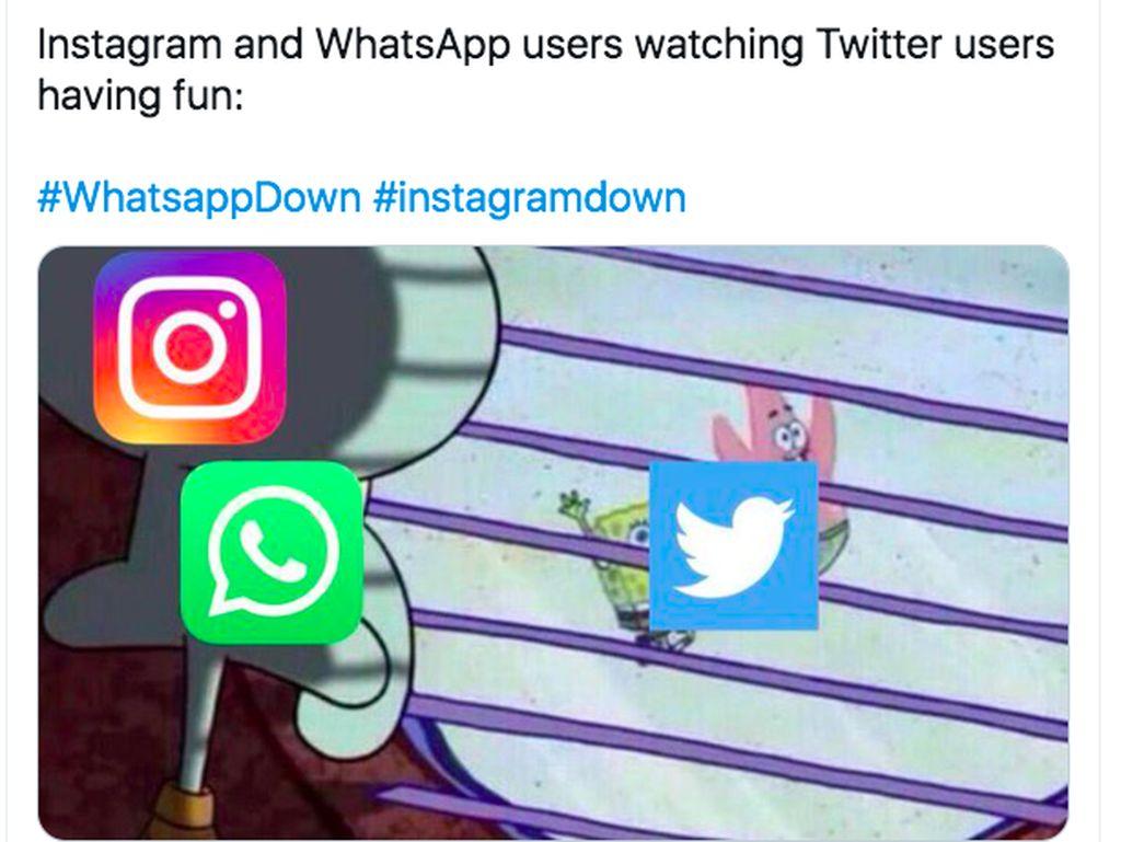 Kicauan Netizen saat WhatsApp-Instagram-Facebook Tumbang!