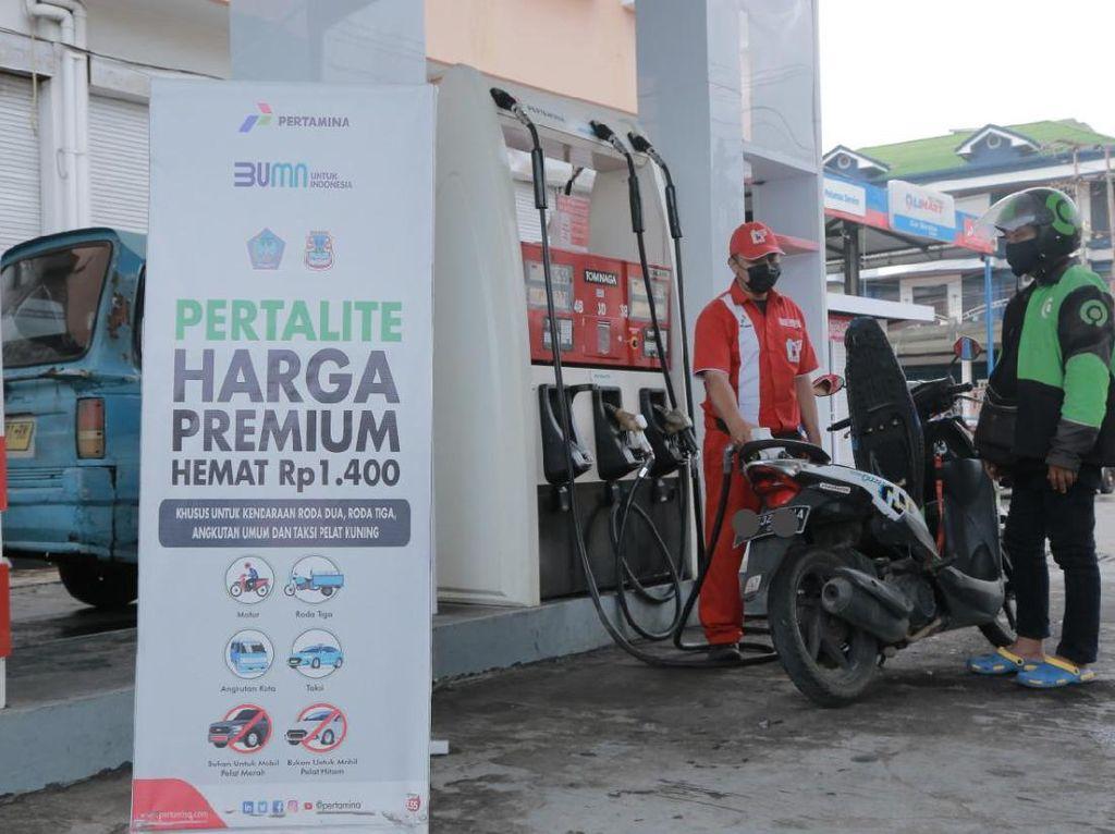 Hore! Warga Makassar Bisa Beli Pertalite Seharga Premium