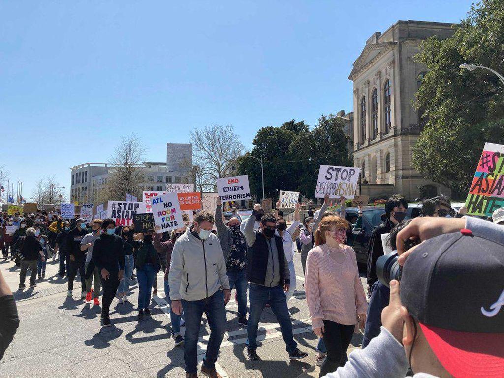 Ratusan Warga AS Demo Buntut Penembakan di Atlanta