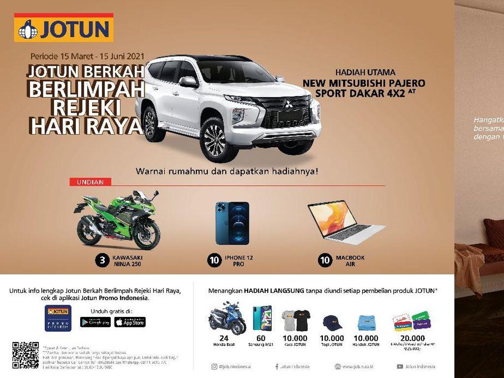 Jotun Bagi-bagi Hadiah Jelang Ramadan, Ada Macbook Air-Pajero Sport