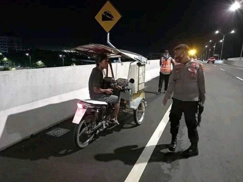 Pemotor-Bentor Ikut Jajal Tol Layang AP Pettarani Makassar, Diamankan Petugas