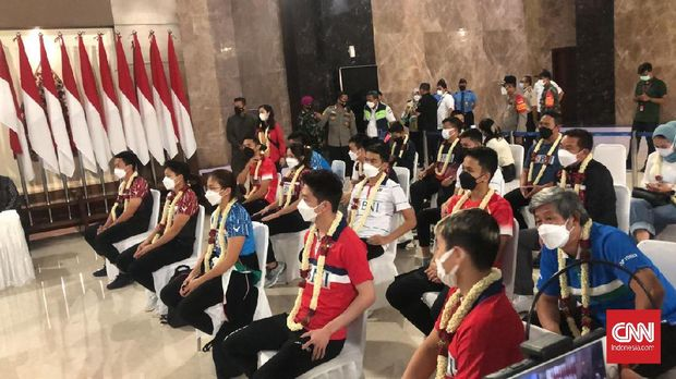 Kedatangan tim Indonesia dari All England