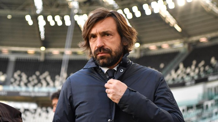 TURIN, ITALY - MARCH 21: Andrea Pirlo, Head Coach of Juventus looks on prior to the Serie A match between Juventus and Benevento Calcio at Allianz Stadium on March 21, 2021 in Turin, Italy. Sporting stadiums around Italy remain under strict restrictions due to the Coronavirus Pandemic as Government social distancing laws prohibit fans inside venues resulting in games being played behind closed doors. (Photo by Valerio Pennicino/Getty Images)