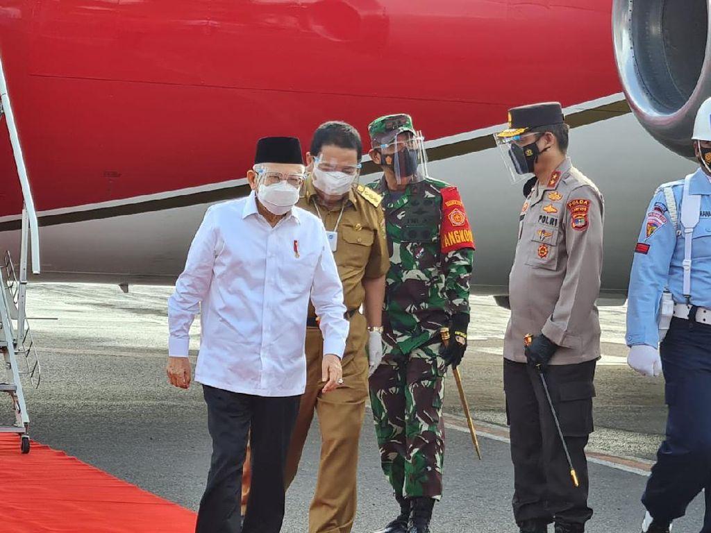 Maruf Amin ke Lampung, Tinjau Vaksinasi dan Bendungan Way Sekampung