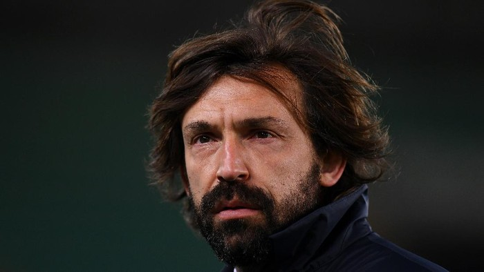 VERONA, ITALY - FEBRUARY 27: Andrea Pirlo, Head Coach of Juventus looks on prior to the Serie A match between Hellas Verona FC and Juventus at Stadio Marcantonio Bentegodi on February 27, 2021 in Verona, Italy. Sporting stadiums around Italy remain under strict restrictions due to the Coronavirus Pandemic as Government social distancing laws prohibit fans inside venues resulting in games being played behind closed doors. (Photo by Alessandro Sabattini/Getty Images )