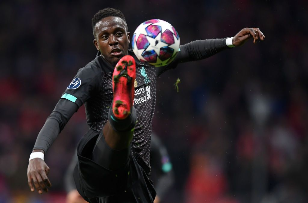 DOHA, QATAR - DECEMBER 18: Divock Origi of Liverpool looks on  during the FIFA Club World Cup semi-final match between Monterrey and Liverpool at Education City Stadium on December 18, 2019 in Doha, Qatar. (Photo by Francois Nel/Getty Images)