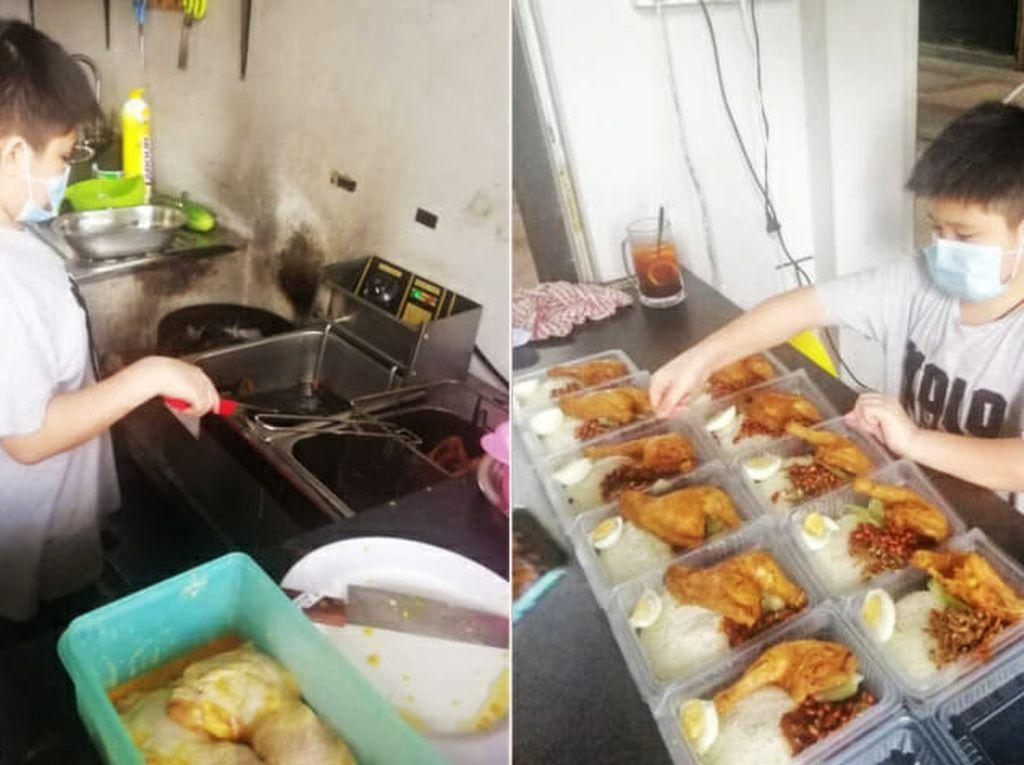 Keren! Remaja 12 Tahun yang Jago Masak Ini Jualan Nasi Lemak