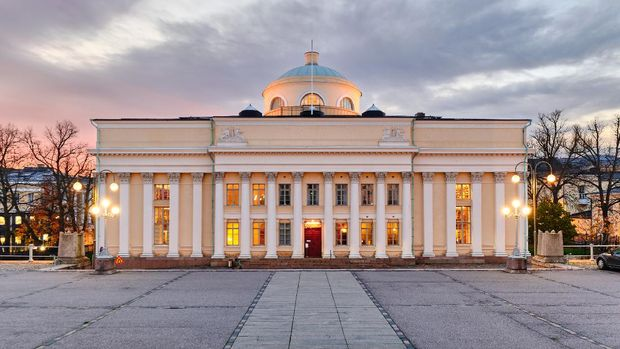 The main building of the National Library of Finland in Helsinki.