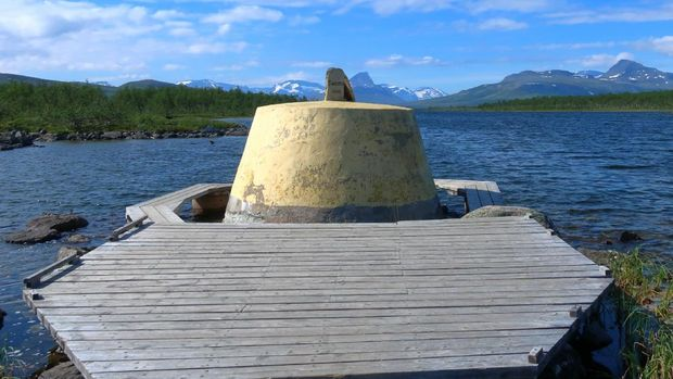 Three-Country Cairn in north Scandinavia