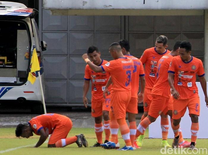 Pertandingan pembuka Grup D Piala Menpora 2021 antara Persiraja Banda Aceh melawan Persita Tangerang digelar di Stadion Maguwoharjo, Sleman, Yogyakarta, Rabu (24/3/2021). Persiraja Banda Aceh berhasil mengalahkan Persita Tangerang pada pertandingan pertama grup D Piala Menpora 2021 dengan skor akhir 3-1.