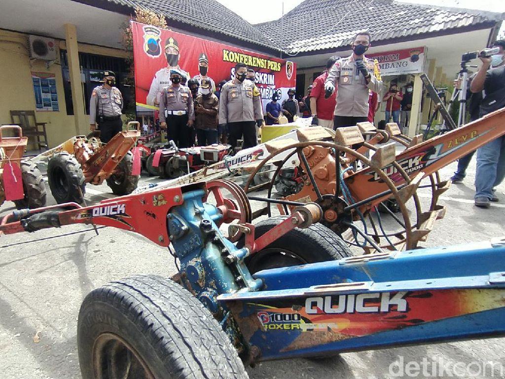 Sindikat Maling Traktor yang Beraksi di Belasan TKP Jateng Dibekuk
