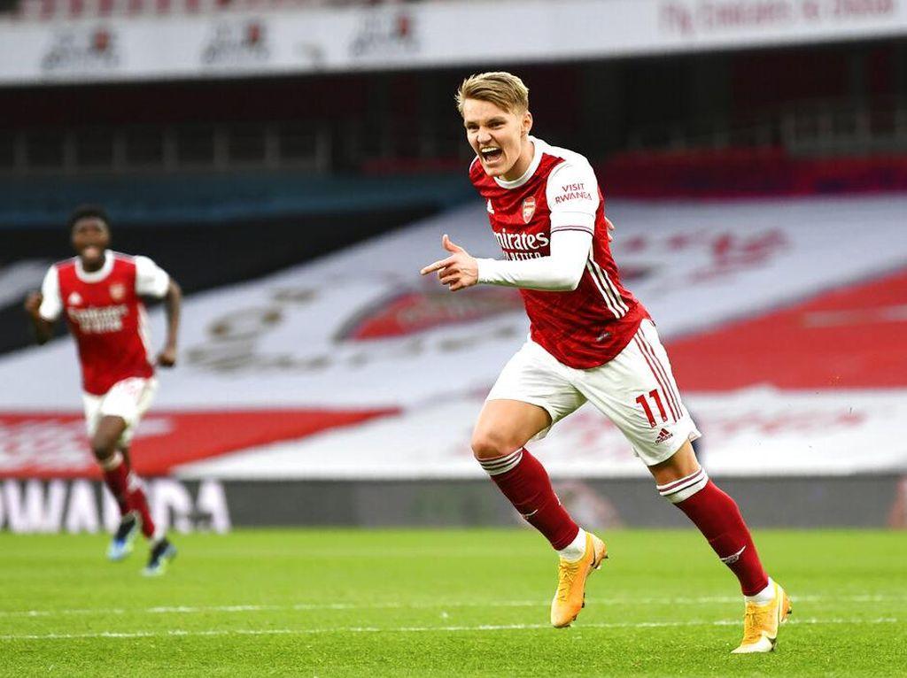 Martin Odegaard Makin Pede di Arsenal