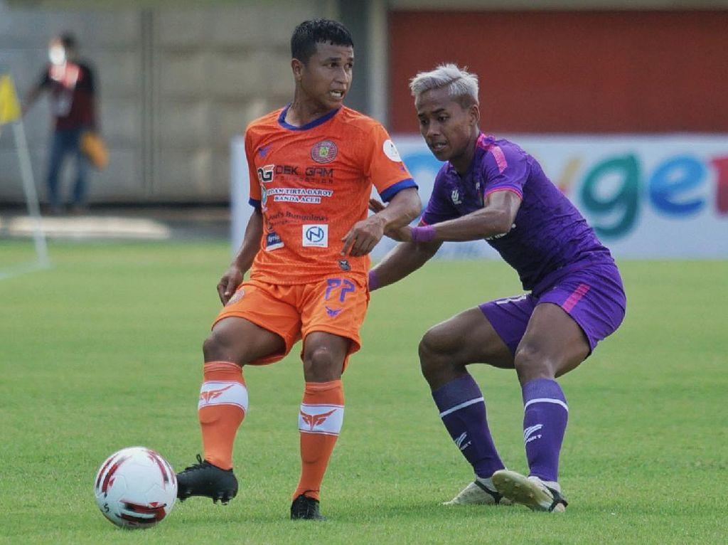 Hasil Piala Menpora 2021: Persiraja Gebuk Persita 3-1