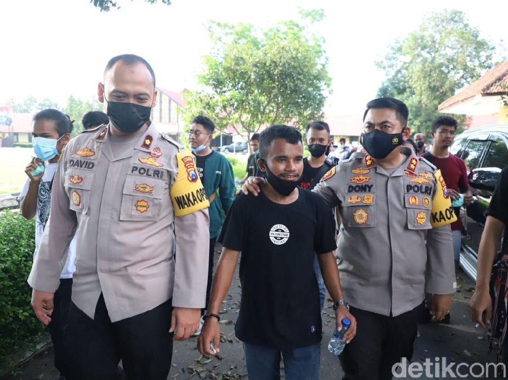 Ratusan Peserta Kongres HMI Dijamu Polisi Selama di Mojokerto