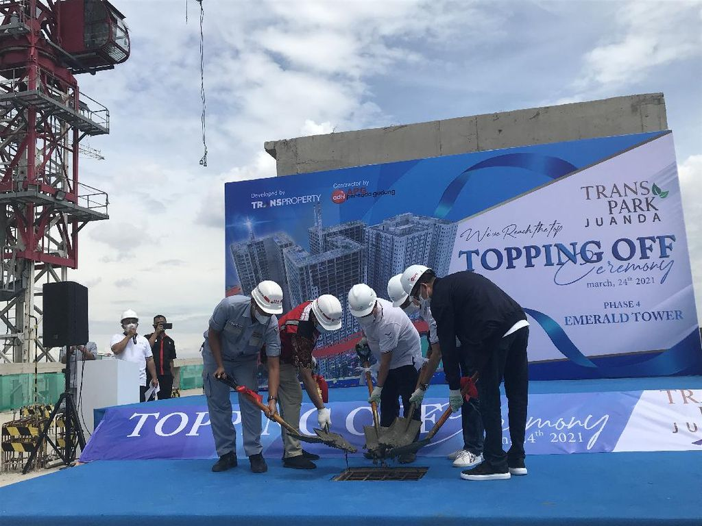 Topping Off, Tower Keempat Transpark Juanda Terjual 65%