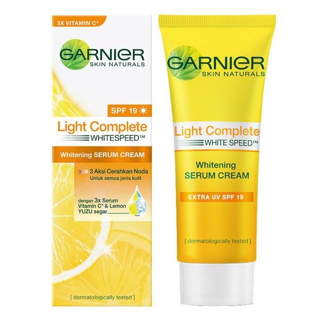 Garnier Light Complete White Speed Yuzu Whitening Serum Cream SPF 19(sumber : shopee.co.id/sinarbintangbanjarmasin)