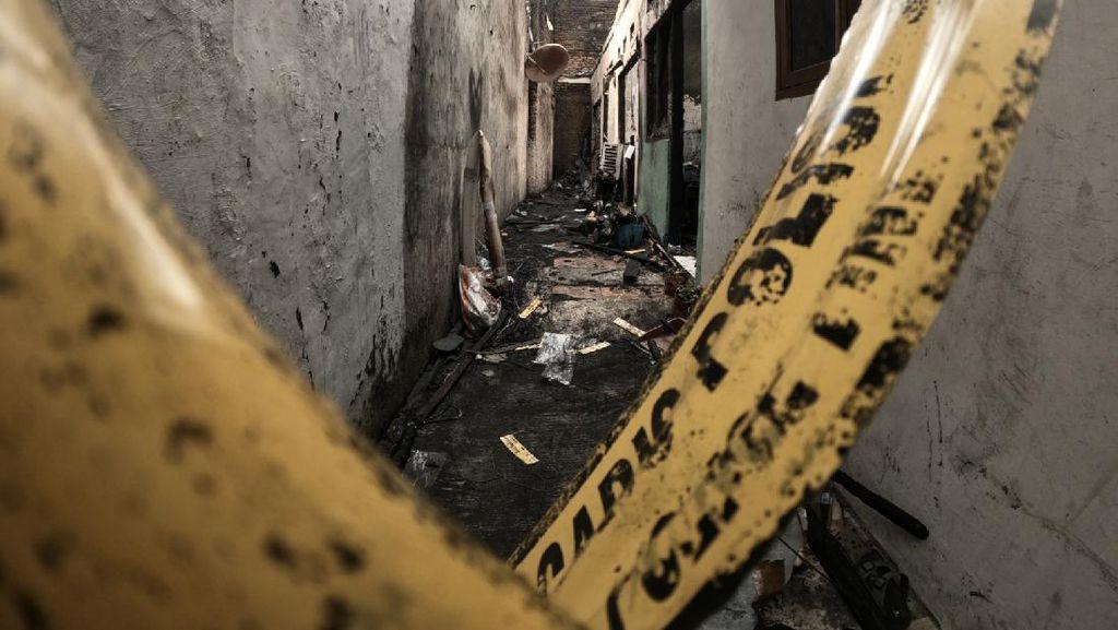 Penampakan Kontrakan Terbakar di Matraman yang Tewaskan 10 Orang