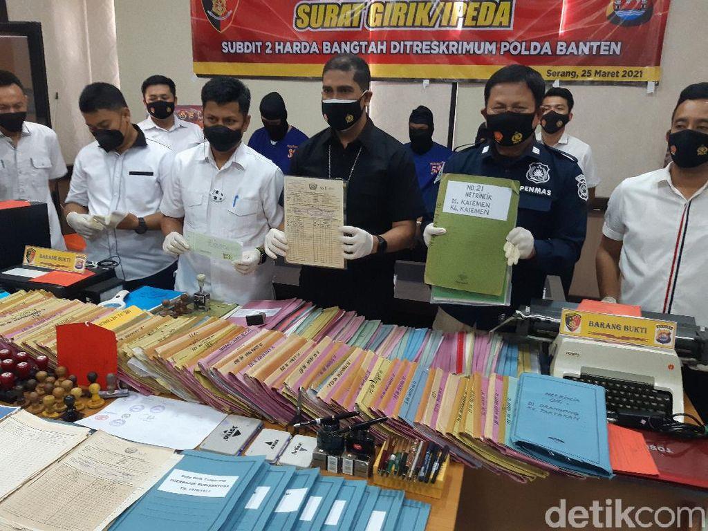 Polisi Gandeng BPN Usut Ratusan Dokumen Girik Palsu Beredar di Serang