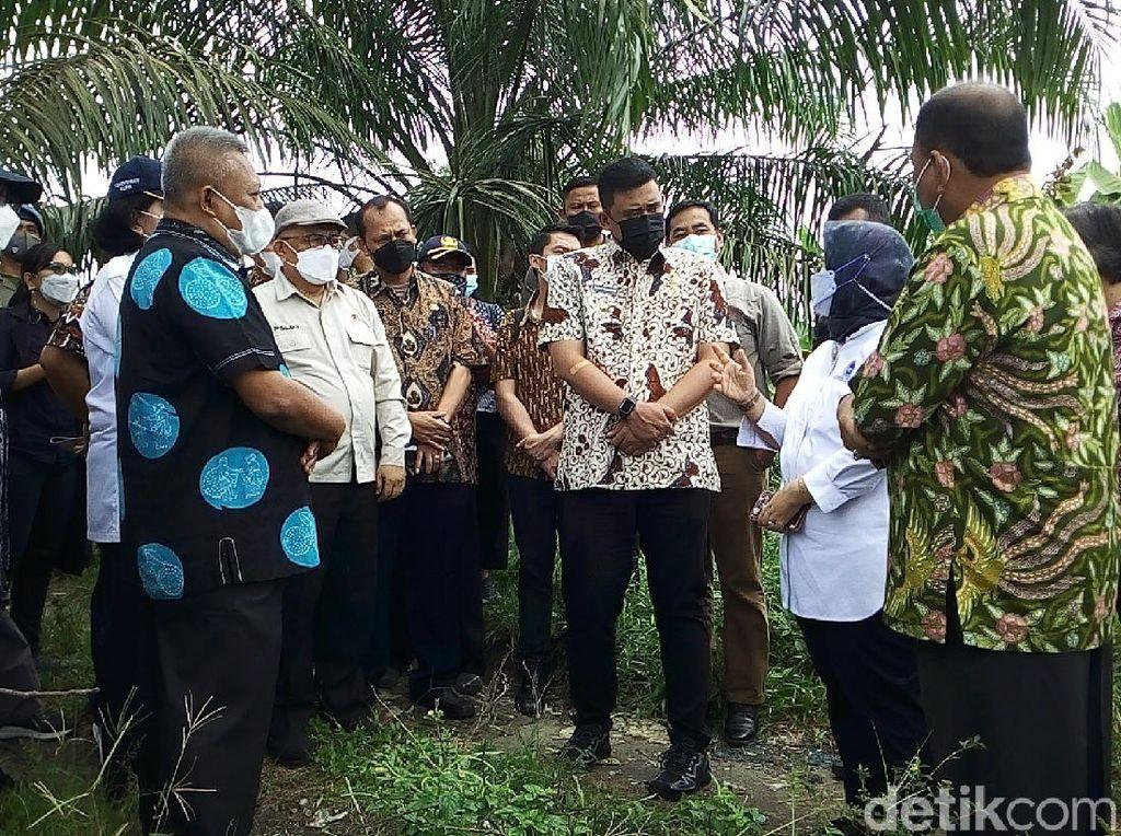 Tinjau Lahan di Deli Serdang, Bobby Siap Bantu Pembangunan TPA Regional