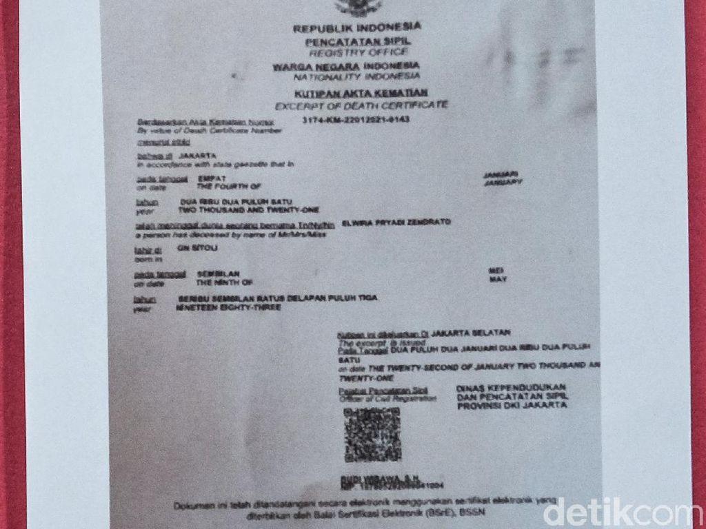 Ini Penampakan Akta Kematian 1 Polisi Penembak Laskar FPI