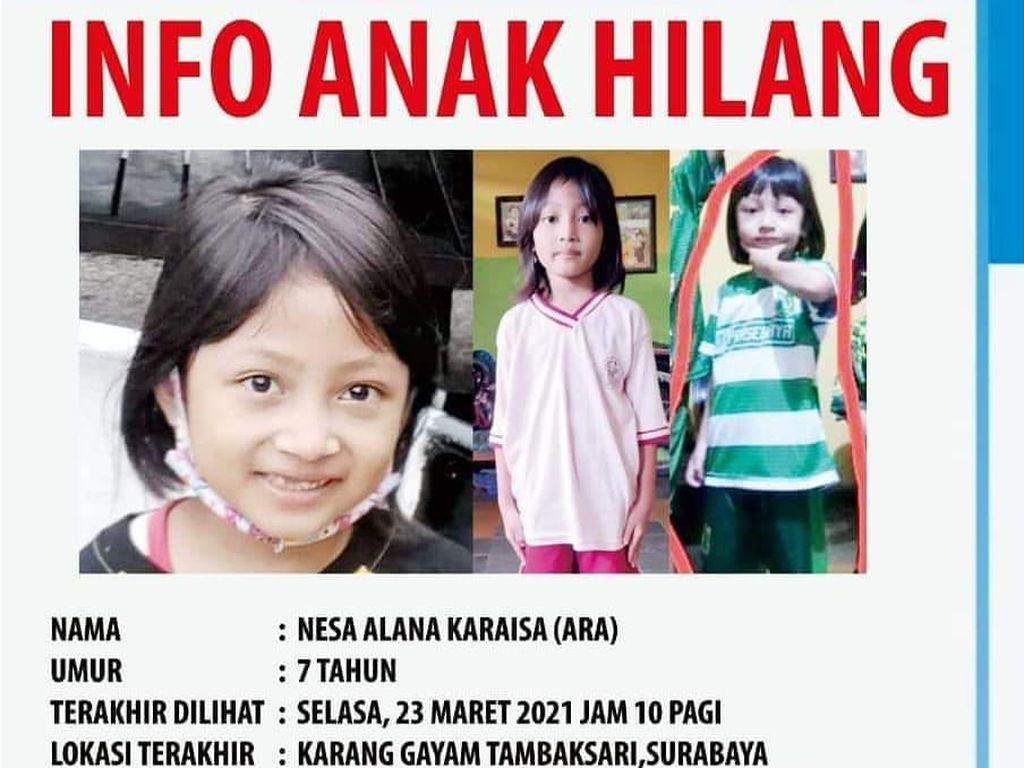 5 Hari Hilang, Ara Bocah Surabaya Ditemukan di Pasuruan