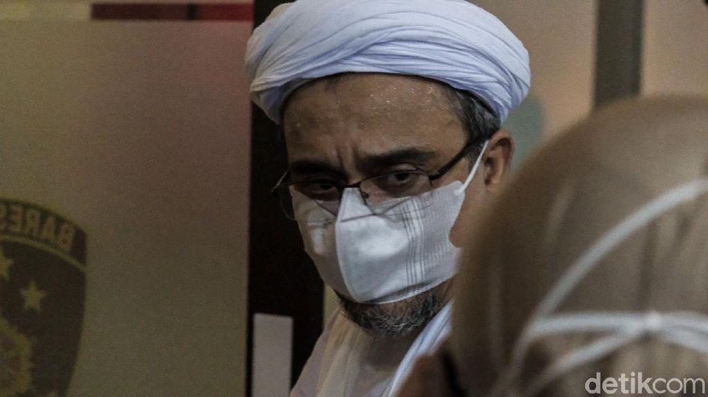 Habib Rizieq Tiba di Bareskrim Usai Jalani Sidang Eksepsi