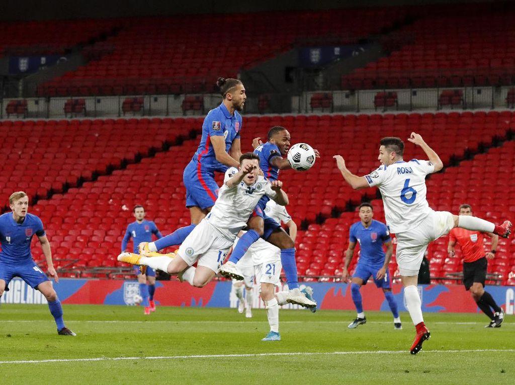 Kualifikasi Piala Dunia 2022: Inggris Pesta 5 Gol ke Gawang San Marino