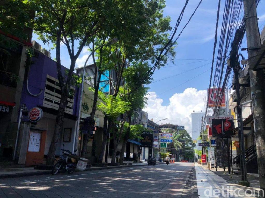 Suasana Sepi Kuta Bali yang Tak Masuk Zona Free Covid Corridor