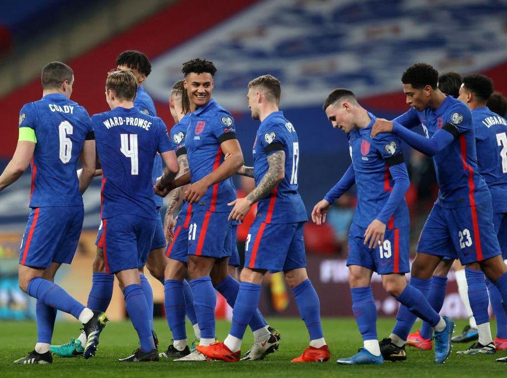 Hasil Kualifikasi Piala Dunia 2022: Inggris Pesta Gol, Spanyol Imbang