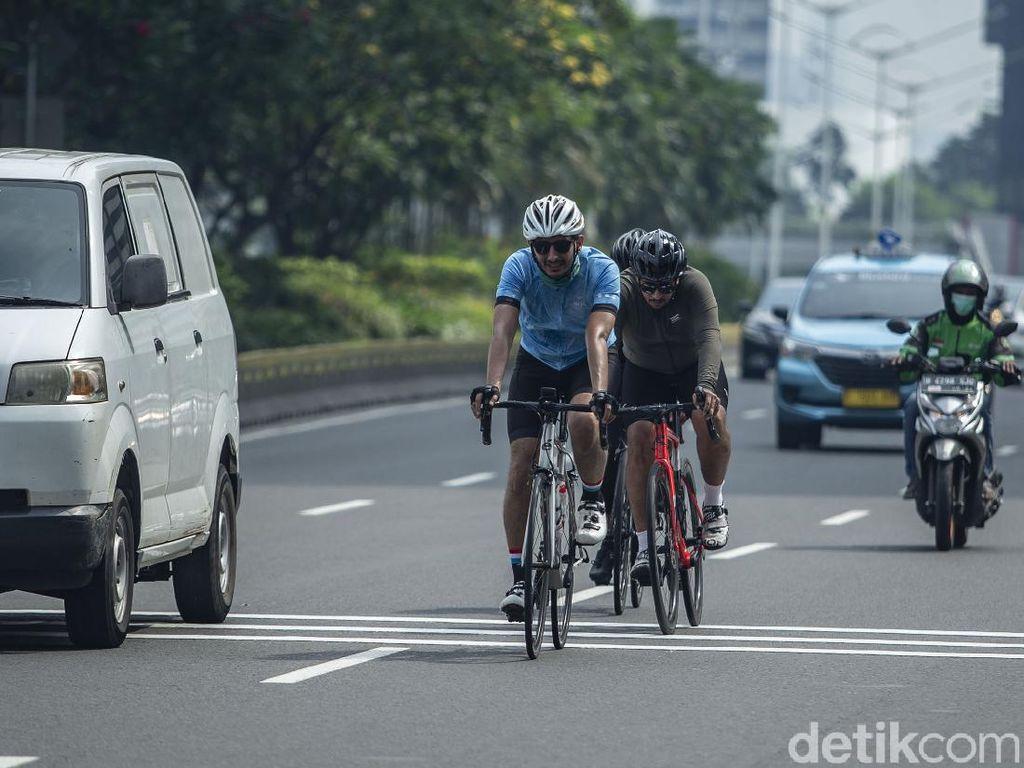 Dishub DKI Kaji Penempatan Jalur-Pembatas Road Bike di Sudirman-Thamrin