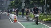 Marak Terjadi Pelanggaran, Polisi Kaji Tiadakan Jalur Sepeda Permanen Sudirman