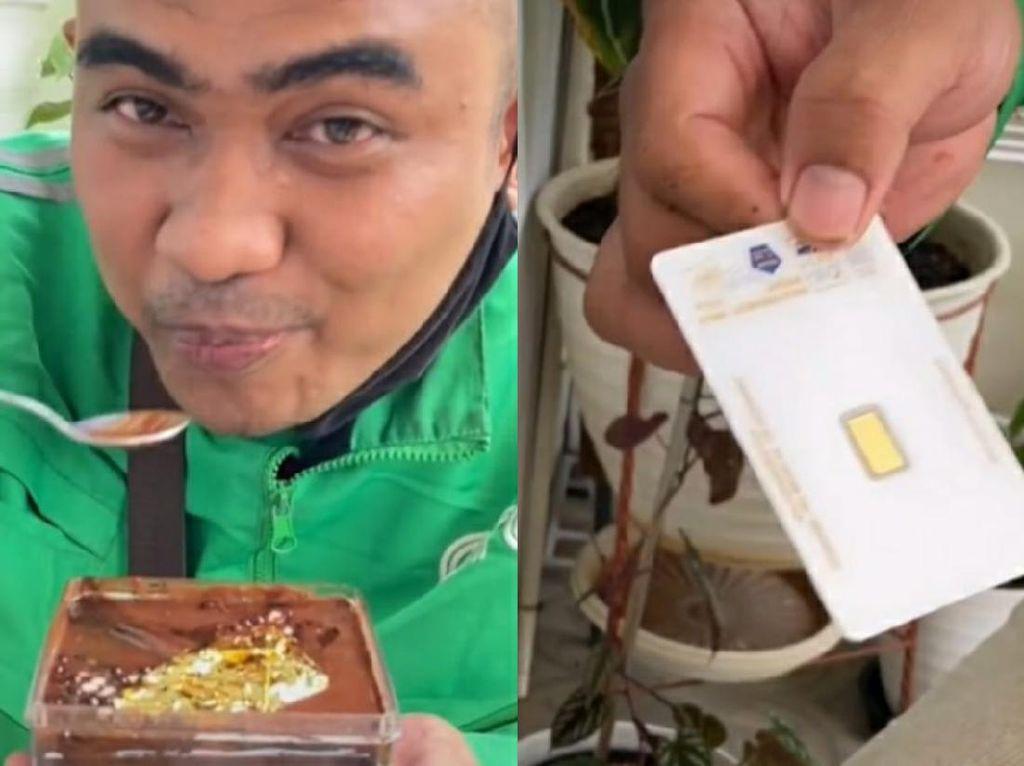 Diajak Cicip Dessert Box, Driver Ojol Ini Beruntung Dapat Emas Batangan!