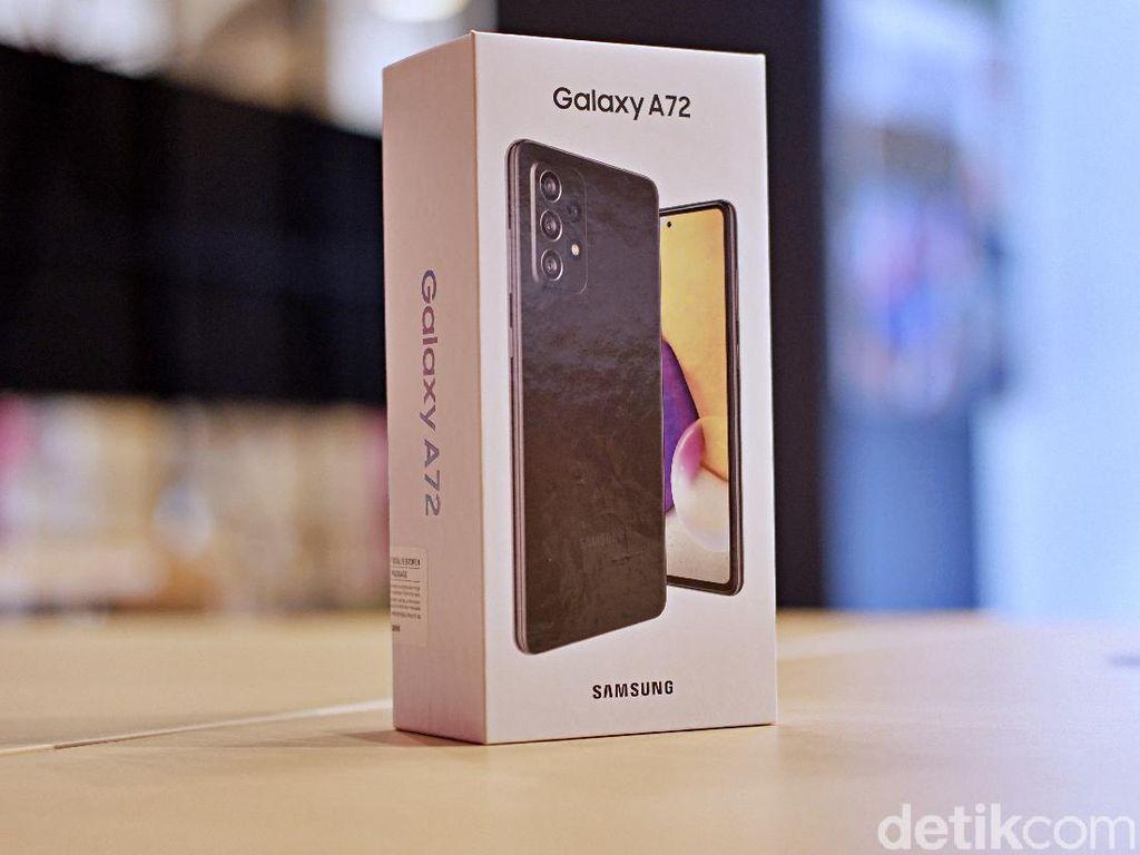 Unboxing Samsung Galaxy A72, HP Mid-range Berpenampilan Mewah