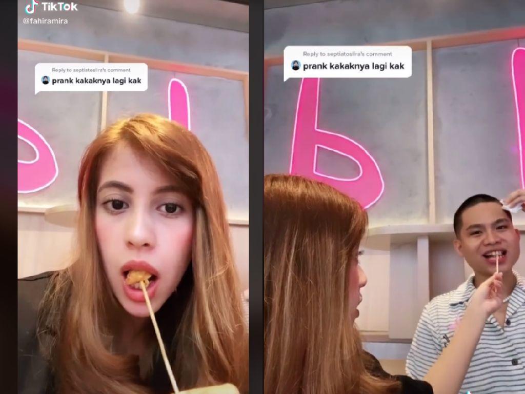 Prank Suapi Makanan Bekas Emutan ke Orang Lain, TikToker Ini Dikecam Netizen