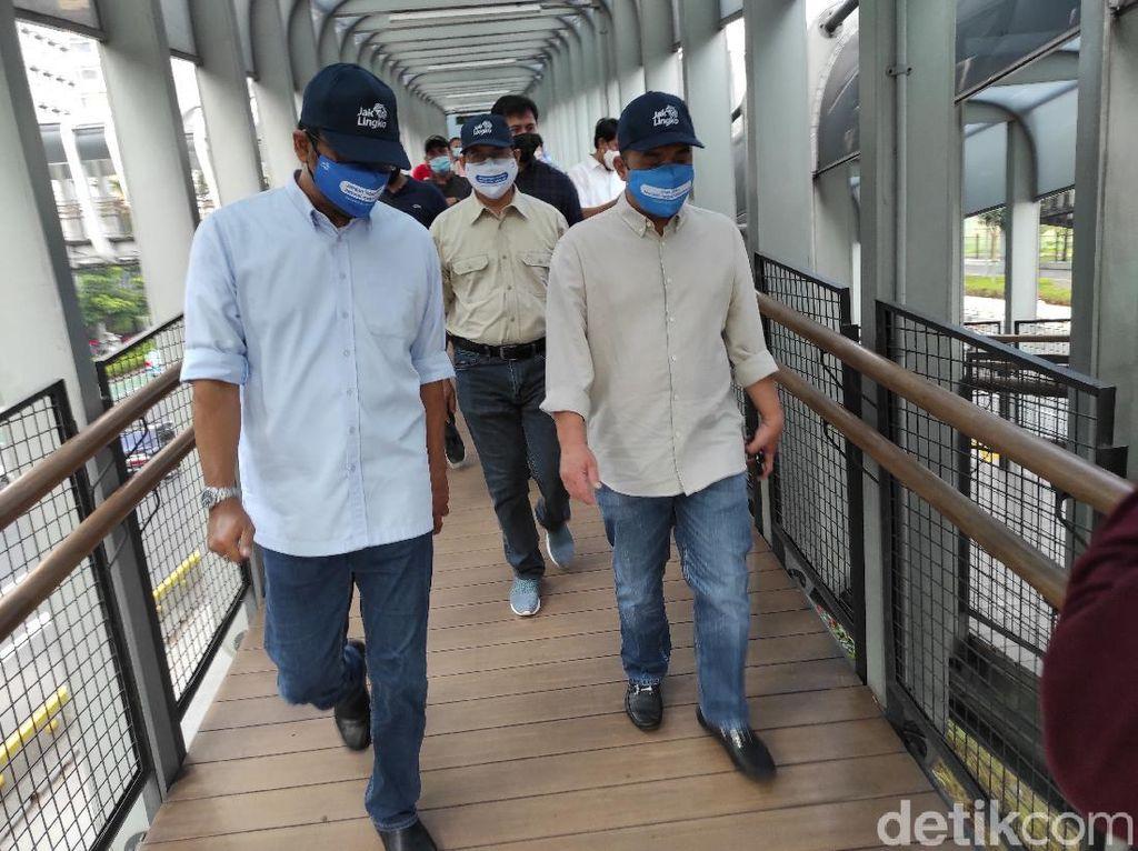 Periksa Kebersihan, Wagub DKI Datangi Langsung 3 JPO di Jakarta