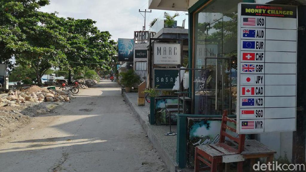 Potret Terkini Gili Trawangan yang Sepi Bak Pulau Hantu