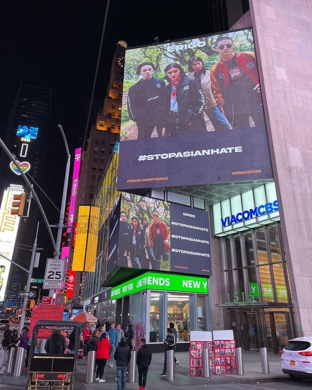 Iklan Erigo di Billboard Times Square/instagram.com/sadadd