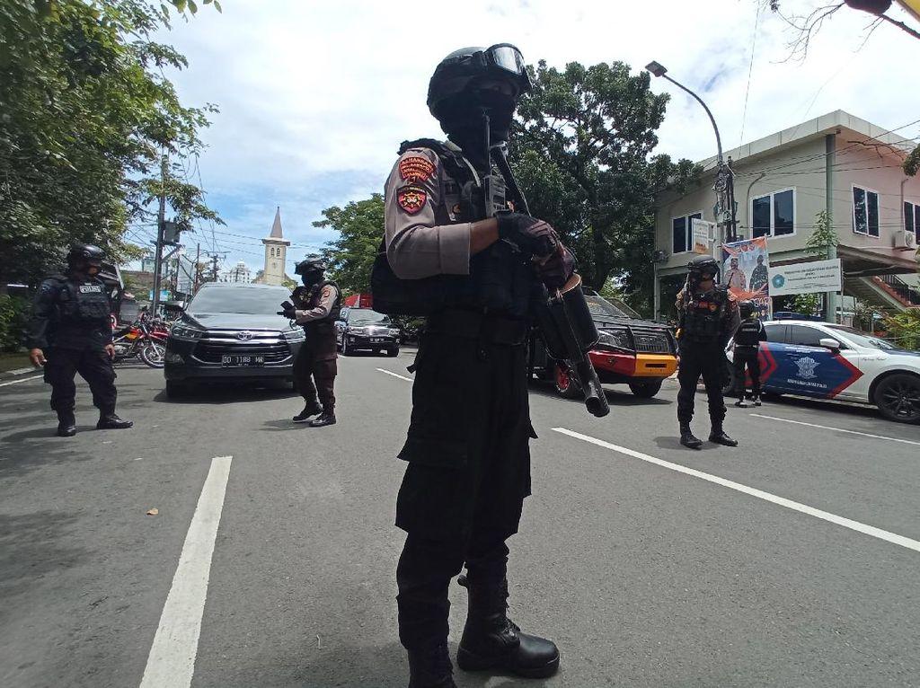 Densus 88 Gerebek Sejumlah Titik di Makassar Pascabom Bunuh Diri