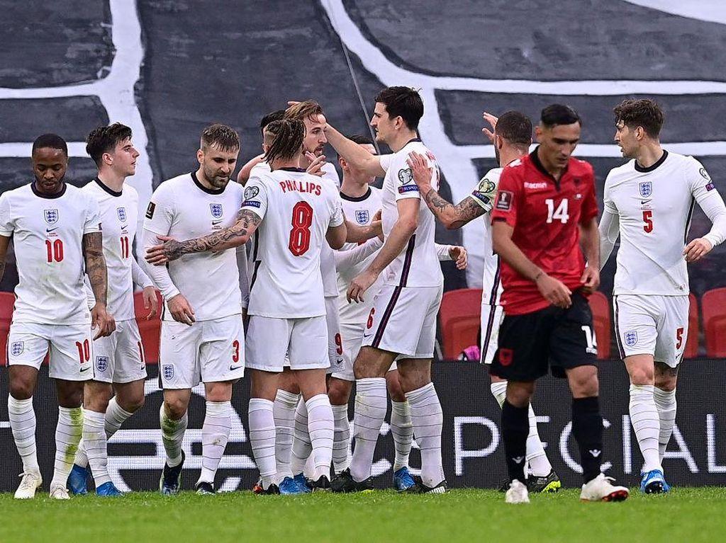 Hasil Kualifikasi Piala Dunia 2022: Inggris Kalahkan Albania 2-0