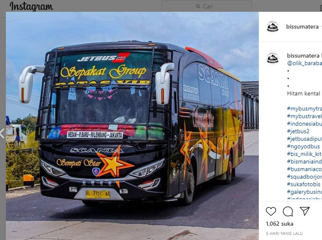 Alasan Mengapa Banyak Bus Sumatera yang Pakai Tameng Besi di Kaca Depan