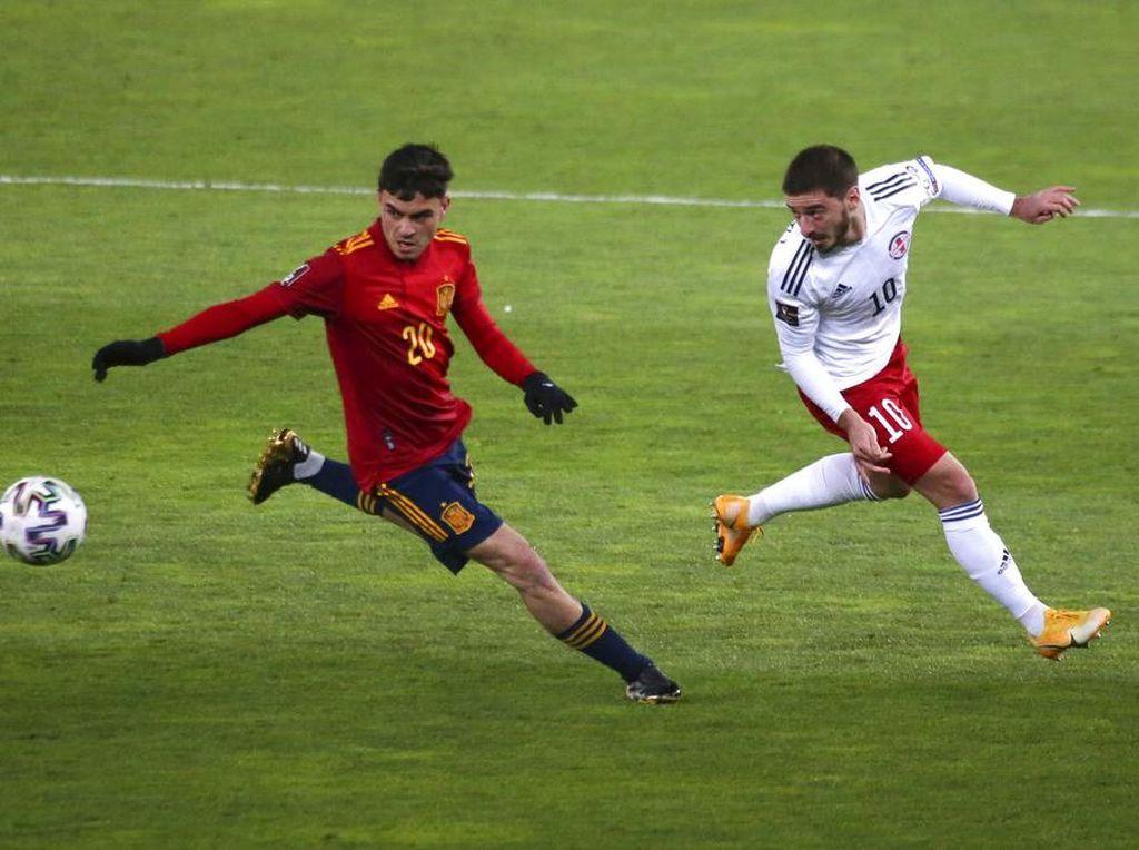 Hasil Kualifikasi Piala Dunia 2022: Comeback, Spanyol Atasi Georgia 2-1