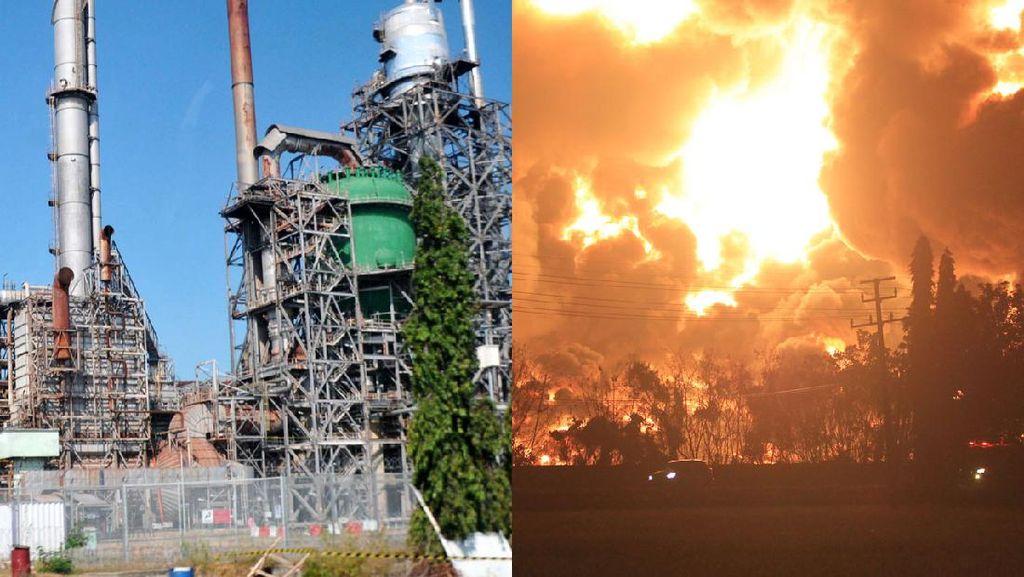 Before-After: Kilang Balongan Sebelum dan Saat Kebakaran