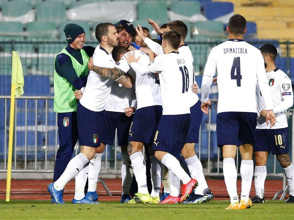 Italia-nya Mancini Mantap Betul, Makin Dekat dengan Rekor