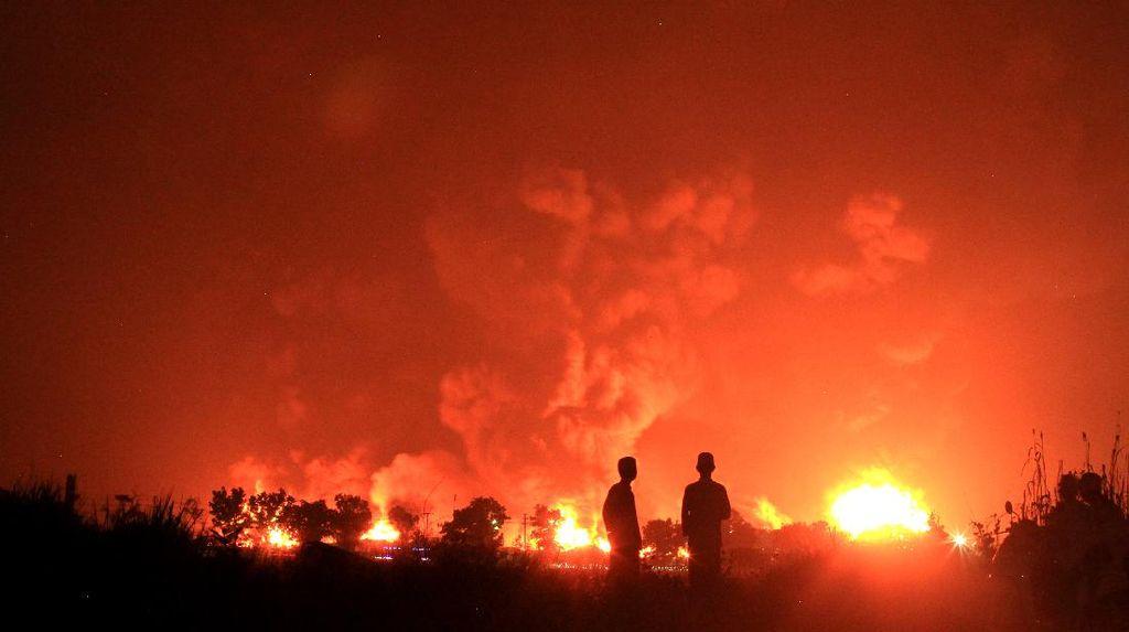 Penampakan Terkini Kilang Balongan yang Terbakar
