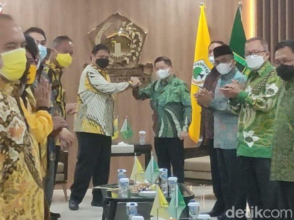 Ketum PPP Sambangi DPP Golkar, Disambut Airlangga Hartarto